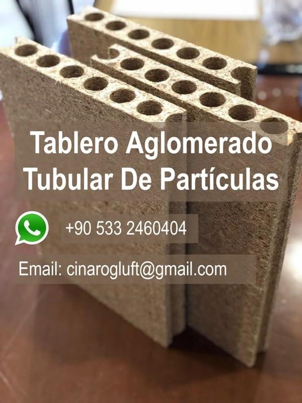 tableros de partículas tubulares
