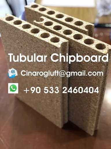 tubular particle board
