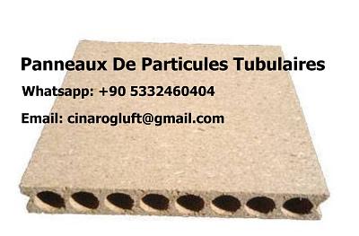 panneau de particules tubulaire