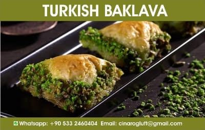 turkish baklava green