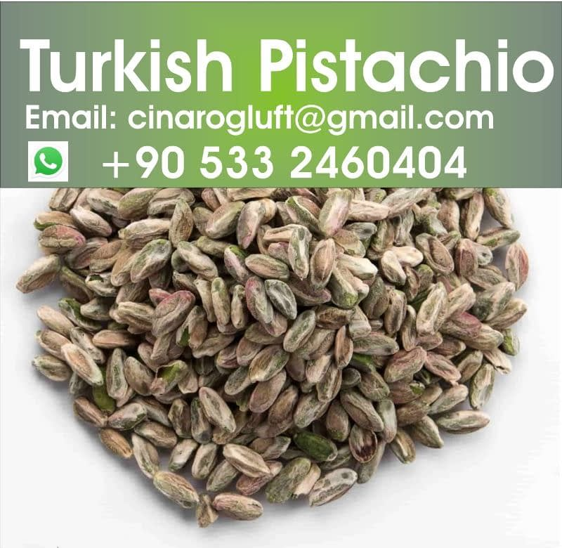 turkish pistachio kernel perfect green