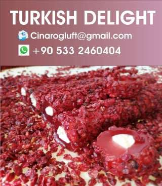 pomegranate turkish delight