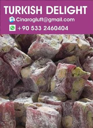 Authentic Rose Turkish Delight with Pistachio, Best Quality Best Price,
