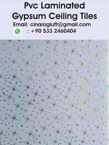 film coated gypsum ceiling boards