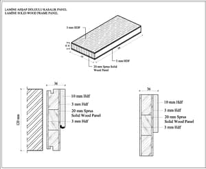 wooden door technical specs