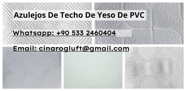 Azulejos de techo de yeso de PVC