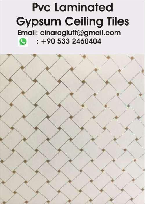 pvc laminated gypsum ceiling tiles price