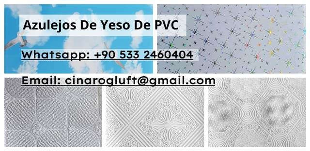 Azulejos de yeso de PVC
