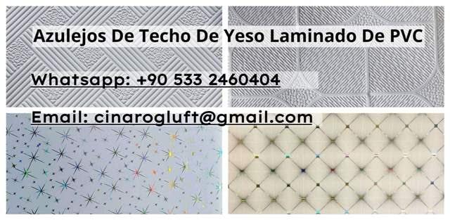 Azulejos de techo de yeso laminado de PVC